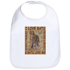I Love Bats & Bats Love Me Bib
