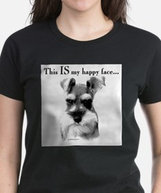 Schnauzer Happy Face Ash Grey T-Shirt