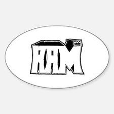 RAM Graffiti Sticker (Oval)