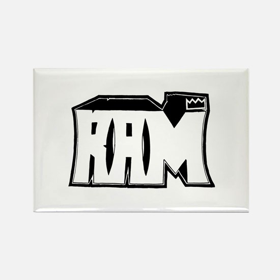 RAM Graffiti Rectangle Magnet
