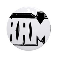 RAM Graffiti Ornament (Round)