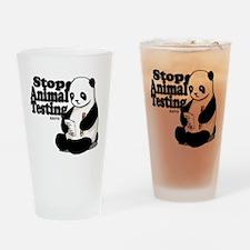 Stop Animal Testing Drinking Glass