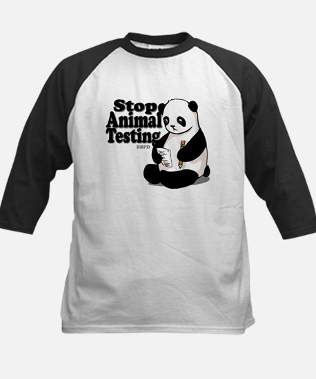 Stop Animal Testing Kids Baseball Jersey