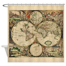 Antique Map Shower Curtain