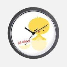 Just Hatched Chicken Wall Clock