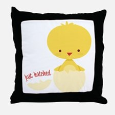 Just Hatched Chicken Throw Pillow
