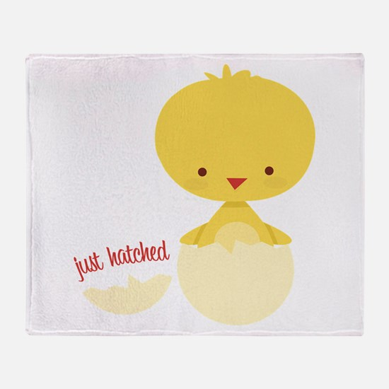 Just Hatched Chicken Throw Blanket
