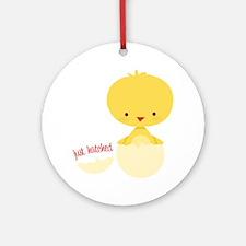 Just Hatched Chicken Ornament (Round)