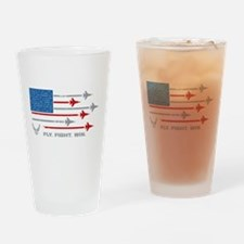 USAF Fly Fight Win Drinking Glass