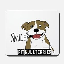 Smiling Pit Bull Tan Mousepad