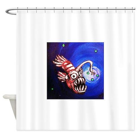 Creepy Fish Shower Curtain