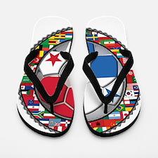 Panama Flag World Cup No Labe Flip Flops