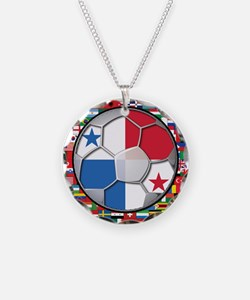Panama Flag World Cup No Labe Necklace