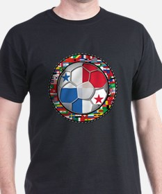 Panama Flag World Cup No Labe T-Shirt