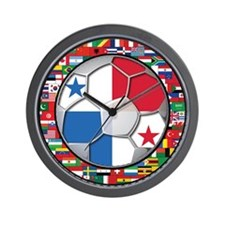 Panama Flag World Cup No Labe Wall Clock