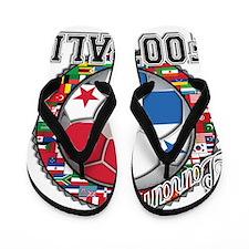 Panama Flag World Cup Footbal Flip Flops
