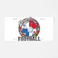 Panama Flag World Cup Footbal Aluminum License Pla
