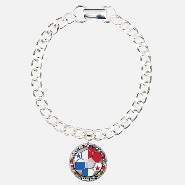 Panama Flag World Cup Footbal Bracelet