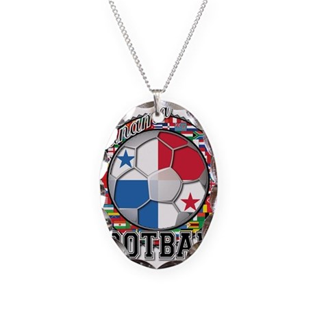 Panama Flag World Cup Footbal Necklace Oval Charm
