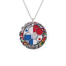 Panama Flag World Cup Footbal Necklace