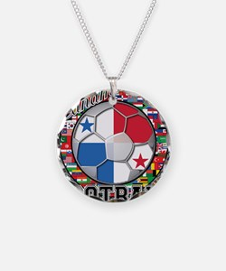 Panama Flag World Cup Footbal Necklace