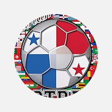 "Panama Flag World Cup Footbal 3.5"" Button (100 pac"