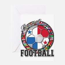 Panama Flag World Cup Footbal Greeting Card