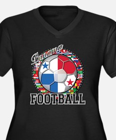 Panama Flag World Cup Footbal Women's Plus Size V-