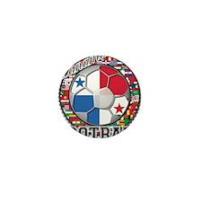 Panama Flag World Cup Footbal Mini Button