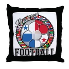 Panama Flag World Cup Footbal Throw Pillow
