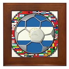 Nicaragua Flag World Cup No L Framed Tile