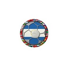 Nicaragua Flag World Cup No L Mini Button (10 pack