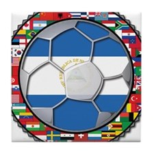 Nicaragua Flag World Cup No L Tile Coaster