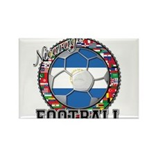 Nicaragua Flag World Cup Foot Rectangle Magnet