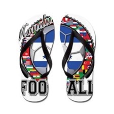 Honduras Flag World Cup Footb Flip Flops