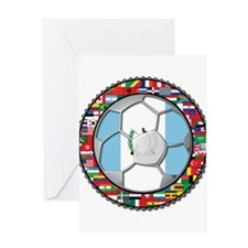Guatemala Flag World Cup No Greeting Card
