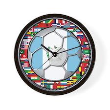 Guatemala Flag World Cup No Wall Clock