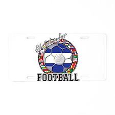El Salvador Flag World Cup Fo Aluminum License Pla