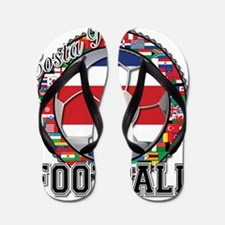 Costa Rica Flag World Cup Foo Flip Flops