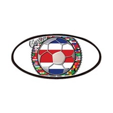 Costa Rica Flag World Cup Foo Patches