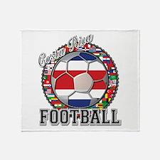 Costa Rica Flag World Cup Foo Throw Blanket