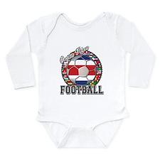 Costa Rica Flag World Cup Foo Long Sleeve Infant B