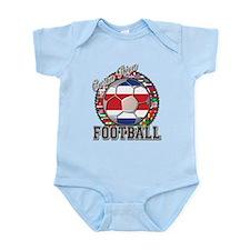 Costa Rica Flag World Cup Foo Infant Bodysuit