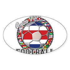 Costa Rica Flag World Cup Foo Decal