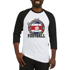 Costa Rica Flag World Cup Foo Baseball Jersey
