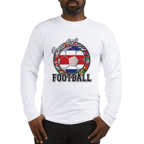 Costa Rica Flag World Cup Foo Long Sleeve T-Shirt