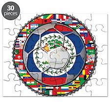 Belize Flag World Cup No Labe Puzzle