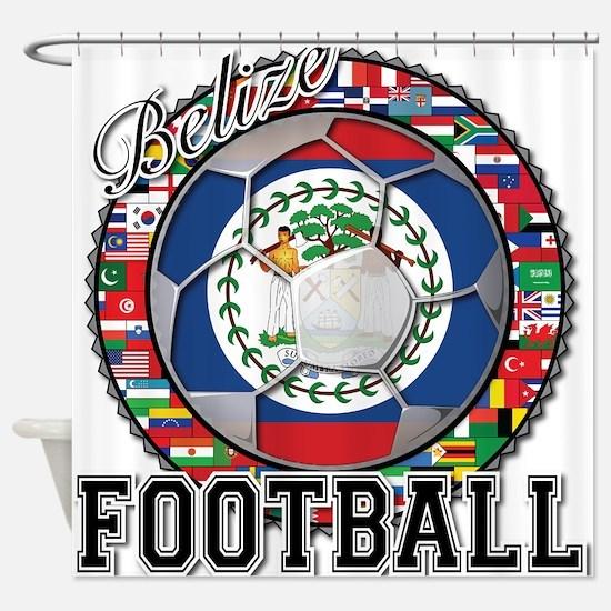 Belize Flag World Cup Footbal Shower Curtain