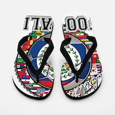 Belize Flag World Cup Footbal Flip Flops