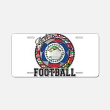 Belize Flag World Cup Footbal Aluminum License Pla